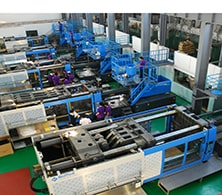 Ordinary injection molding workshop