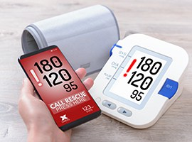 Intelligent blood-pressure meter